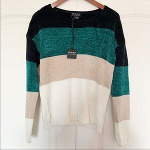Poof New York Striped Sweater